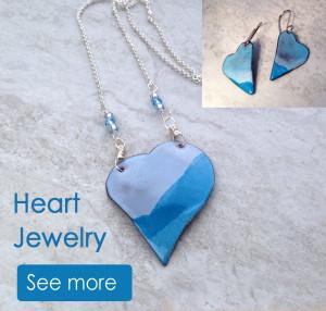 Handmade Enamel Heart Jewelry