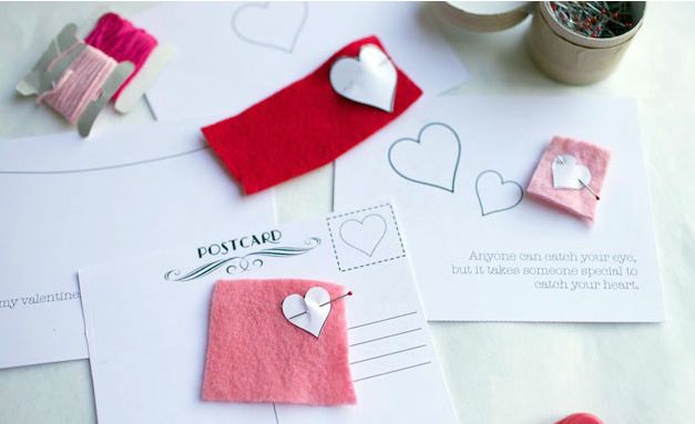 valentine card craft diy