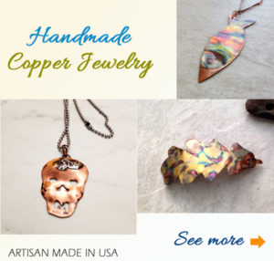 handmade copper jewelry made in usa