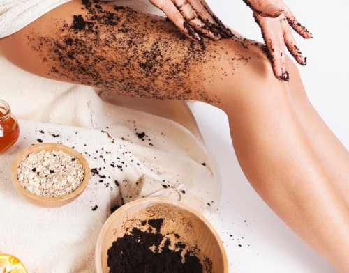 coffee cellulite scrub